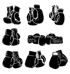 set of boxing glove isolated on white background vector image vector image