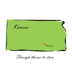 State of Kansas vector image vector image