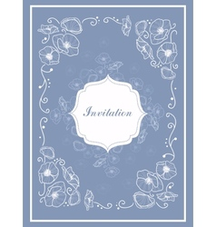 Stylish Vintage Invitation card vector image vector image