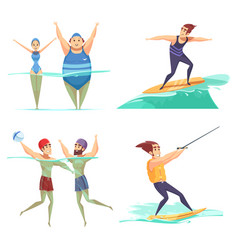 Water sports design concept vector