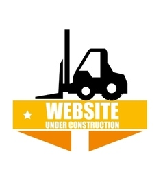 web under construction design vector image