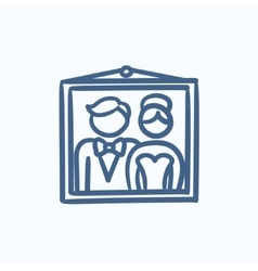 Wedding photo sketch icon vector image