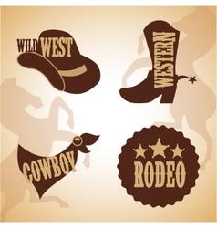 Western banner design vector