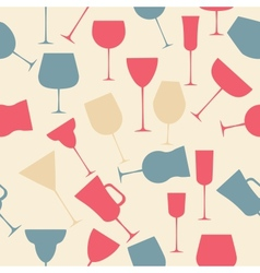 Seamless background pattern of black alcoholic vector