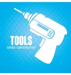 Tools under construction vector