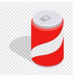 Carbonated drink isometric icon vector