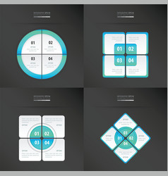 set of presentation template blue color vector image