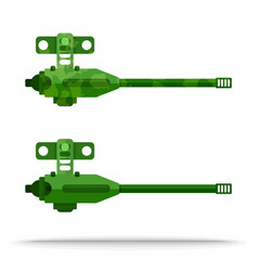 Set flat airship weapon outboard vector