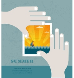 Summer vacation concept background vector