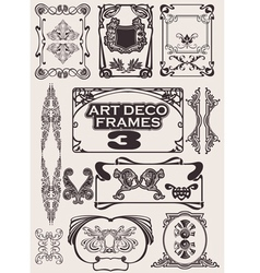Art deco frames vector
