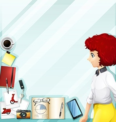 Working woman and other accessories vector