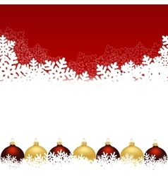 Snowflake red background vector