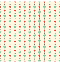 Pattern with hearts vector