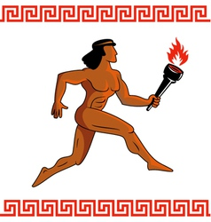 Ancient greek athlete vector