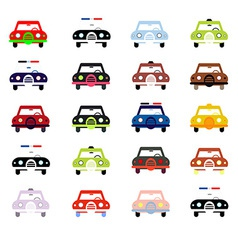 City cars in color vector