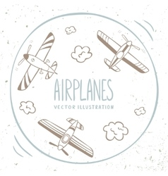 airplanes around vector image vector image