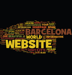 Barcelona text background word cloud concept vector