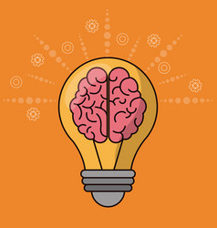 brain bulb idea creativity innovation vector image