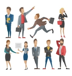 Business people man and woman vector image vector image