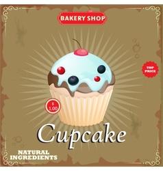 Cake in Retro Style vector image