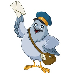 carrier pigeon cartoon vector image vector image