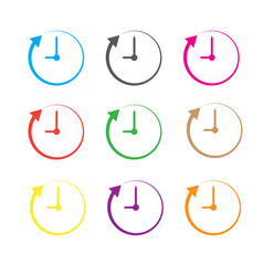 clock and arrow on white background clock and vector image vector image