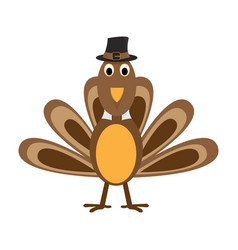 Comic turkey icon vector