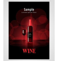 cover poster face wine red vine bokeh background vector image vector image