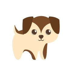 cute puppy little brown standing vector image vector image