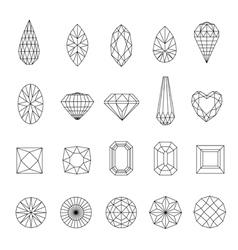 Doamonds 3 vector image