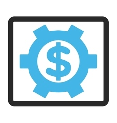 Financial settings framed icon vector