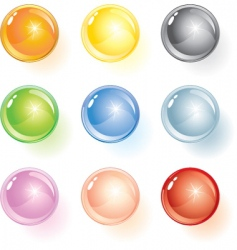 glossy ball vector image vector image