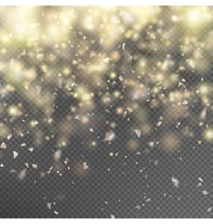 Gold glitter on transparent background eps 10 vector