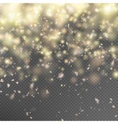 Gold glitter on transparent background EPS 10 vector image vector image