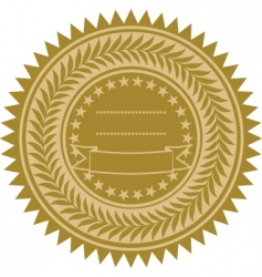 gold wreath seal vector image vector image
