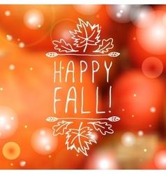 Happy fall - typographic element vector
