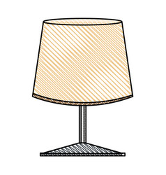 lamp light decoration object vector image