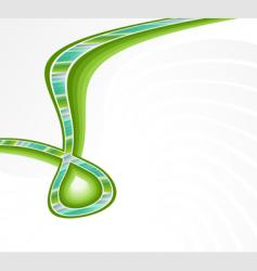 lined art ribbon green corner background vector image vector image