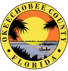 Okeechobee county seal vector image