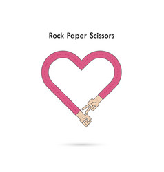 Rock paper scissors for it signhand of vector