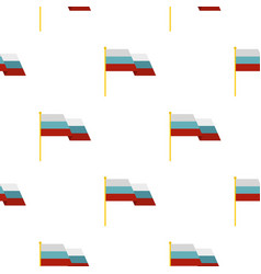 Russian flag pattern flat vector