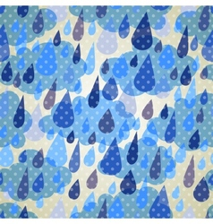 Seamless pattern with clouds and rain with dots vector image