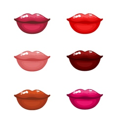 sexy lips collection vector image vector image