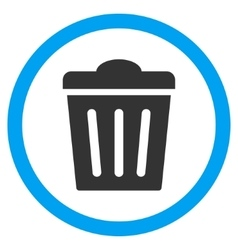 Trash Can Flat Rounded Icon vector image vector image