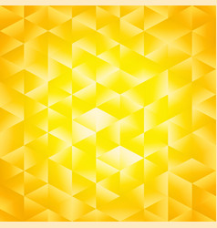 yellow poligonal background vector image vector image