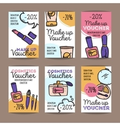 Set of discount coupons for make up vector