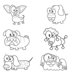 Collection of cartoon dogs vector image