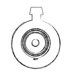 monochrome sketch of video security camera lens vector image