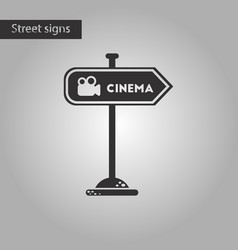 Black and white style icon cinema sign vector