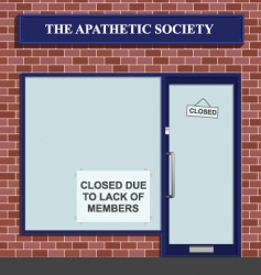 Apathetic society vector